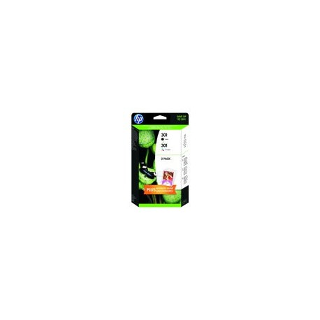 HP cartucho de tinta negro+color 301 J3M81AE pack