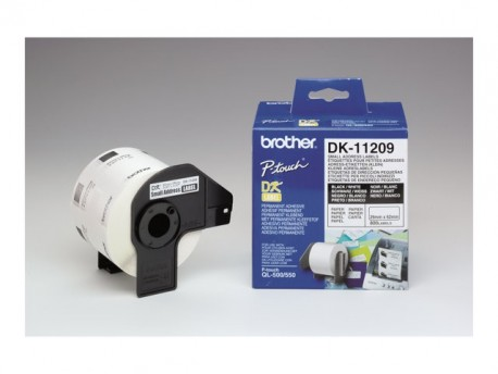 Brother etiquetas DK11209 28.9mm X 62mm (800unidad
