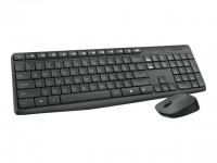 Logitech teclado+raton MK235 - inalámbrico negro