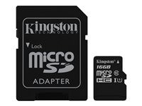 Kingston memoria SD 16 Gb Micro 1 adapt CLASS 4 S