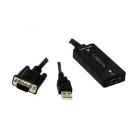 Logilink adaptador VGA + audio a HDMI con audio CV