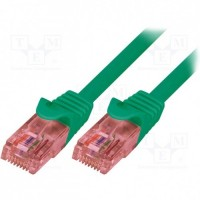 Logilink cable red RJ45 0,25m. cat.6e verde UTP