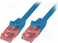 Logilink cable red RJ45 2m. Cat.6e azul UTP cobre