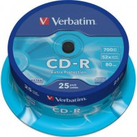 Verbatim CD-R 700 Mb 80 minutos bobina 25 unidades