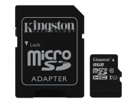 Kingston memoria SD 8 Gb Micro 1 adapt CLASS10 SDC