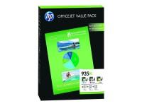 HP cartucho tinta pack 935XL F6U78AE 825 pág. x 3