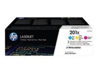 HP toner pack tricolor 201X CF253XM 2.300 pag. X 3