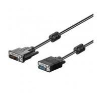 Cable DVI-I macho - a - VGA- macho HD 2 metros