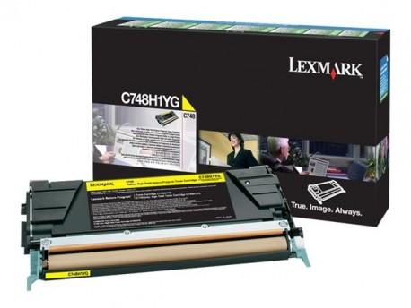 Lexmark tóner amarillo C748H3YG 10.000 páginas