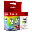 Canon cartucho de tinta BCI24C 6882A009 S200-300