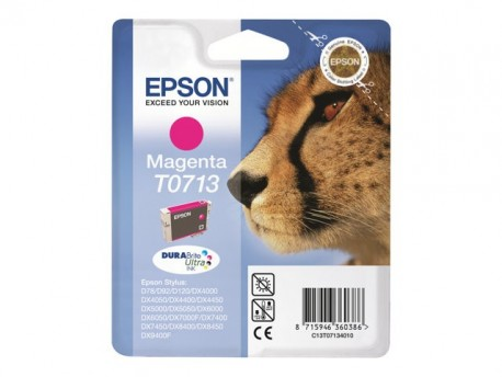 Epson cartucho de tinta magenta T0713 5,5 ml.