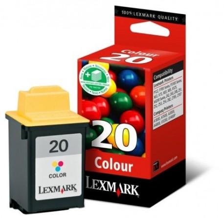 Lexmark cartucho tinta color 20 15MX120E 275pag
