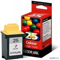 Lexmark cartucho tinta color 25 15M0125E 625pag