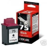 Lexmark cartucho tinta negro 75 12A1975E 1.100 p