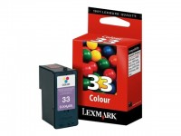 Lexmark cartucho tinta color 33 18CX033E 190pag