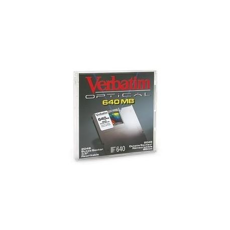 """Verbatim disco óptico 3,5"""" 640Mb formateado Mac"""