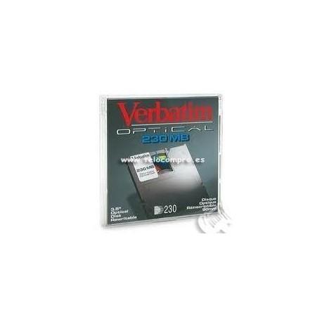 """Verbatim disco óptico 3,5"""" óptico 230Mb"""