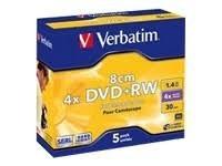 Verbatim DVD+RW 1.4Gb, 8cm. 2x, pack 5 uni