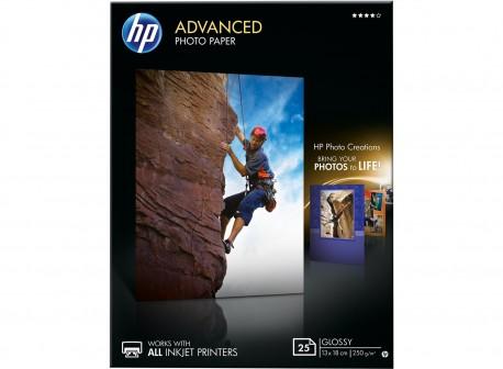 HP papel Q8696A 13cm x18cm 250 gr. glossy 25 hojas