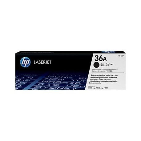 HP toner negro 36A CB436A LJ P1505 2000 páginas