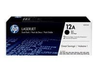 HP toner negro 12A Q2612AD pack LJ-1010 2000 pági