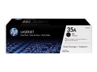 HP toner negro 35A CB435AD pack doble 1500 páginas