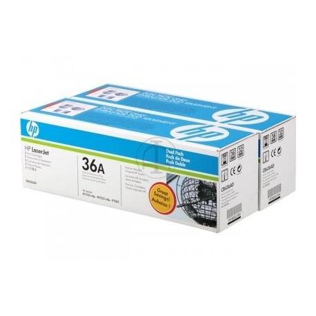 HP toner negro 36A (CB436AD) pack 2 unidades 2000