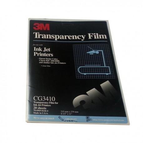 3M Transparencias CG3410 50 hojas inkjet negro