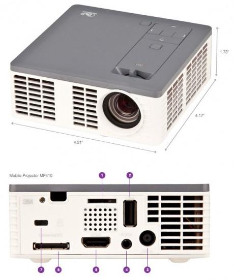 3M Videoproyector MPro410 micro Led 300lumenes.