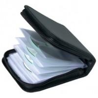 Deja archivador CD-DVD 24 fundas cremallera negro