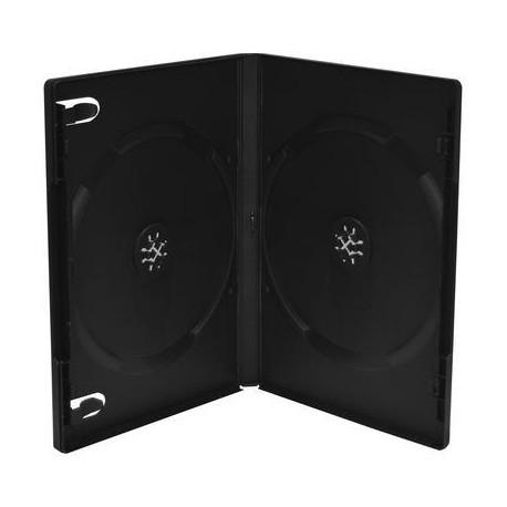 Deja caja DVD x 2 lomo 14mm, negra, 5 unidades