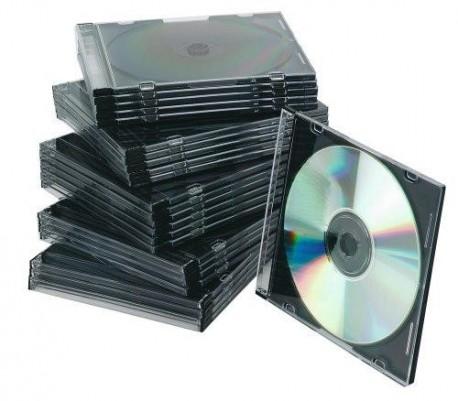 Q-Connet caja CD x 1 lomo 5mm slim, 25uni.