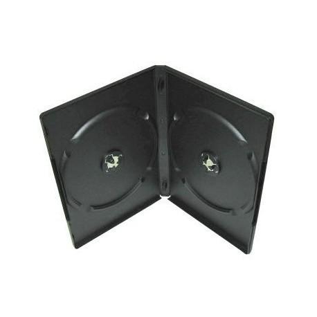 Wings caja DVD x 2 lomo 8mm slim, negra, 15uni