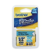 Brother cinta rotuladora M531 azul/negro 12mm x 8m