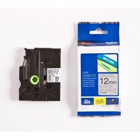 Dymo cinta rotuladora M931 negro/plata 12mm x 8m