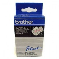 Brother cinta rotula. TC102 negro/rojo 12mm x 7m