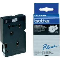 Brother cinta rotula. TC201negro/blanco 12mm x 7m.