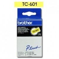 Brother cinta rotula. TC701 negro/verde 12mm x 7m