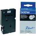 Brother cinta rotula. TC291 negro/blanco 9mm x 7m.