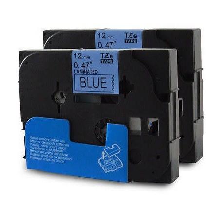 Brother cinta rotula. TZ531 negro/azul 12mm x 7m