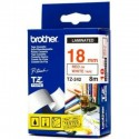 Brother cinta rotula. TZ242 rojo/blanc 18mm x 8m