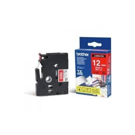Brother cinta rotulado. TZ435 rojo/blanc 12mm x 7m