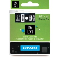 Dymo cinta rotuladora 45021 negro/blanc 12mm x 7m