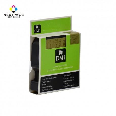 Dymo cinta rotuladora 45023 negro/oro 12mm x 7m