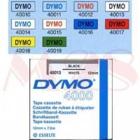 Dymo cinta rotuladora 40017 negro/rojo 12mm x 7m