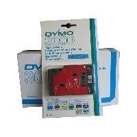 Dymo cinta rotula. 30130 negro/trans. 12mm x 7,7m