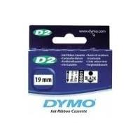 Dymo cinta rotuladora 60601 blanc/negro 19mm x 50m