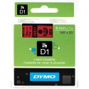 Dymo cinta rotuladora 40917 negro/rojo 9mm x 7m