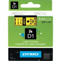 Dymo cinta rotuladora 40918 negro/amarillo 9mm x7m