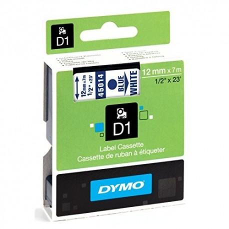 Dymo cinta rotuladora 45014 azul/blanco 12mm x 7m